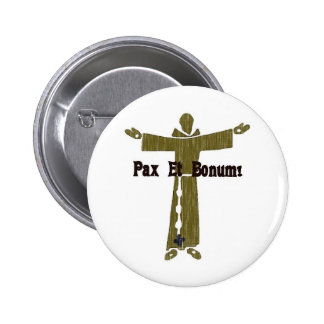 Franciscan Greetings 6 Cm Round Badge