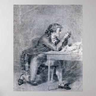 Francois Buzot  contemplating a portrait Poster