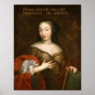 Francoise-Madeleine d'Orleans  Duchess of Savoy Poster