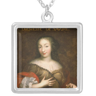 Francoise-Madeleine d'Orleans  Duchess of Savoy Silver Plated Necklace