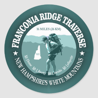 Franconia Ridge Traverse Classic Round Sticker