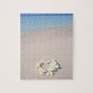 Frangipani on the beach jigsaw puzzle