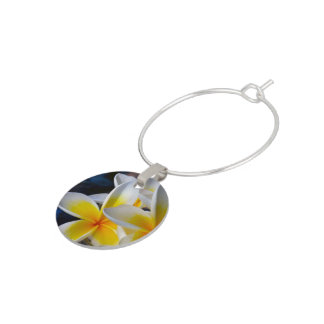 Frangipani Wine Glass Charm