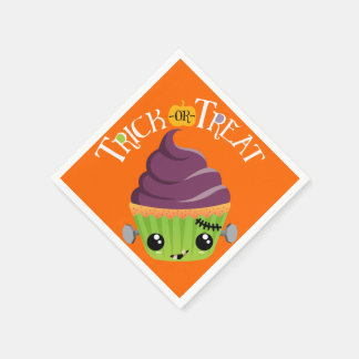 Frankencake - Cute Halloween Trick or Treat Disposable Serviettes