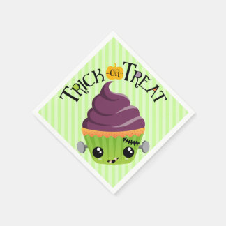 Frankencake - Cute Halloween Trick or Treat Paper Napkins