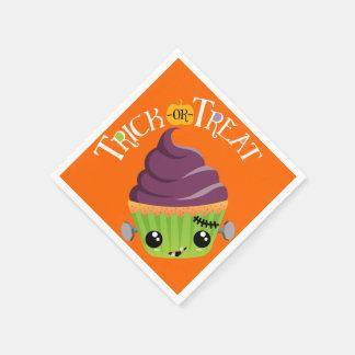 Frankencake - Cute Halloween Trick or Treat Paper Napkin