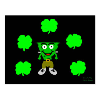 FrankenCheese St. Patrick's Day Postcard
