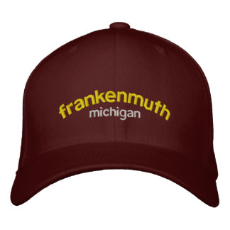 Frankenmuth MI Embroidered Baseball Caps