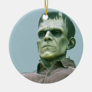 Frankenstein and Azure Skies - Photograph Christmas Ornament