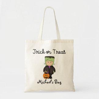 Frankenstein costume Trick or Treat Bag