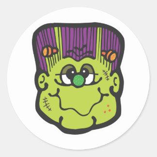 frankenstein face cartoon stickers