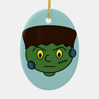 Frankenstein Halloween Cartoon Christmas Ornament