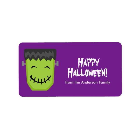 Frankenstein Halloween Labels
