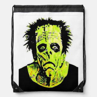 Frankenstein Modern Drawstring Bag