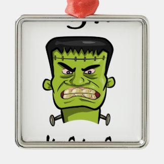Frankenstein pumpkin spice christmas ornament