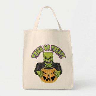 Frankenstein Skull Tote Bag