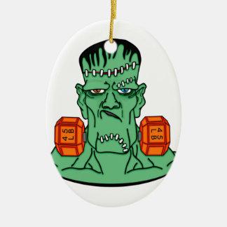 Frankenstein under weights ceramic oval decoration
