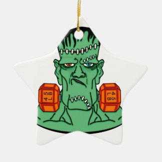 Frankenstein under weights ceramic star decoration