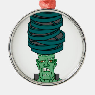 Frankenstein under weights christmas ornament
