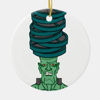 Frankenstein under weights round ceramic decoration