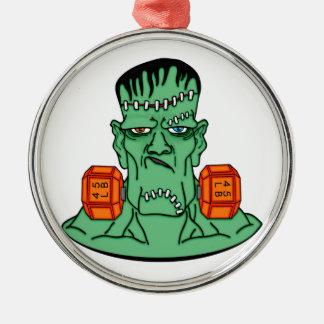 Frankenstein under weights Silver-Colored round decoration
