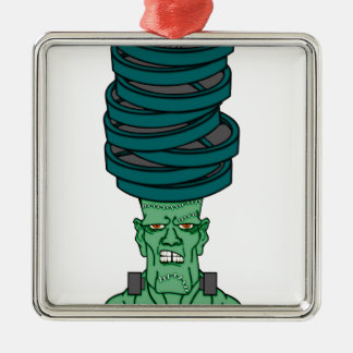 Frankenstein under weights Silver-Colored square decoration