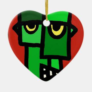 Frankenstein's Munster. Ceramic Heart Decoration