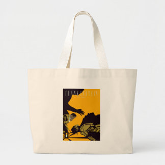 frankenstien large tote bag