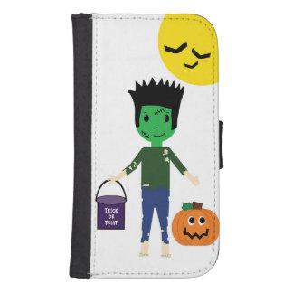Frankenstien Trick or Treating on Halloween Galaxy S4 Wallet