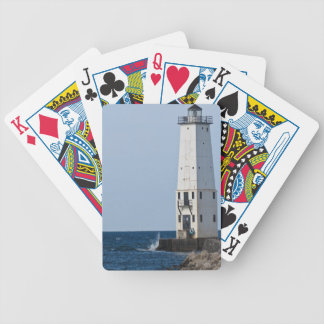 Frankfort Michigan Lighthouse Bicycle Playing Cards
