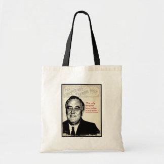 Franklin D. Roosevelt Quote Tote Bag