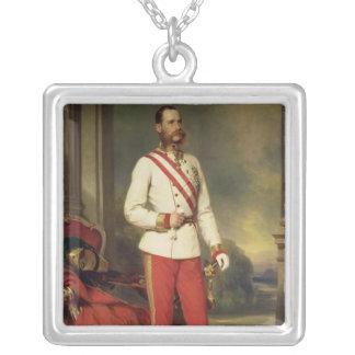 Franz Joseph I, Emperor of Austria Silver Plated Necklace