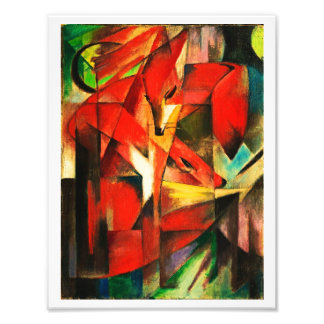 Franz Marc The Foxes Red Fox Modern Art Painting Photo