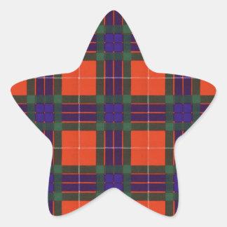 Fraser clan Plaid Scottish tartan Star Sticker