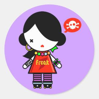 Freak Round Sticker