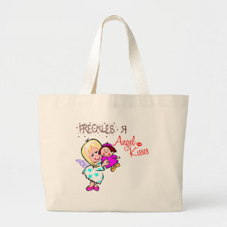 Freckles Are Angel Kisses Large Tote Bag