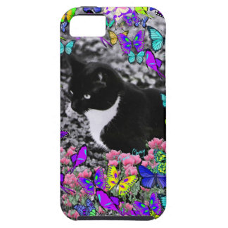Freckles in Butterflies II - Tux Kitty Cat Tough iPhone 5 Case