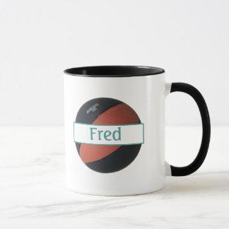 Fred Personalized Basketball Ringer Mug