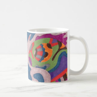 Fred the Cosmic Worm, Abstract Art Mug