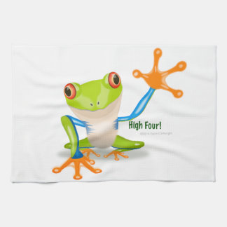 "Freddie Frog ""High Four"" Tea Towel"