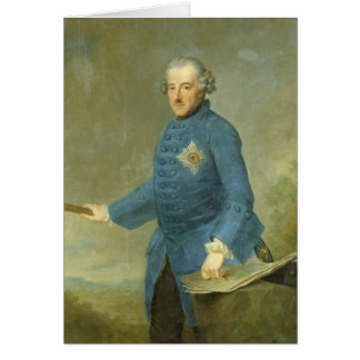 Frederick II the Great of Prussia, c.1770 Card