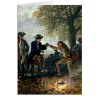 Frederick the Great  with Zieten at the Camp Card