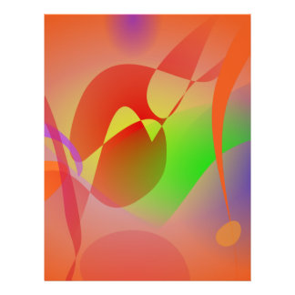 Free Abstract Orange Full Color Flyer