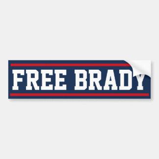 Free Brady bumper sticker