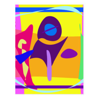 Free Colorful Digital Abstract Painting Post Card