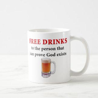 Free Drinks Basic White Mug