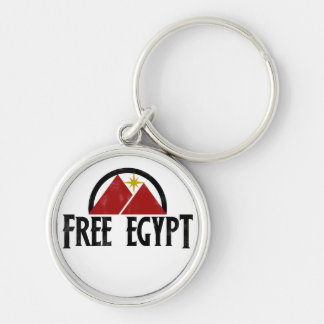 Free Egypt Silver-Colored Round Key Ring