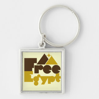 Free Egypt Silver-Colored Square Key Ring