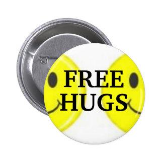 , FREE, HUGS 6 CM ROUND BADGE