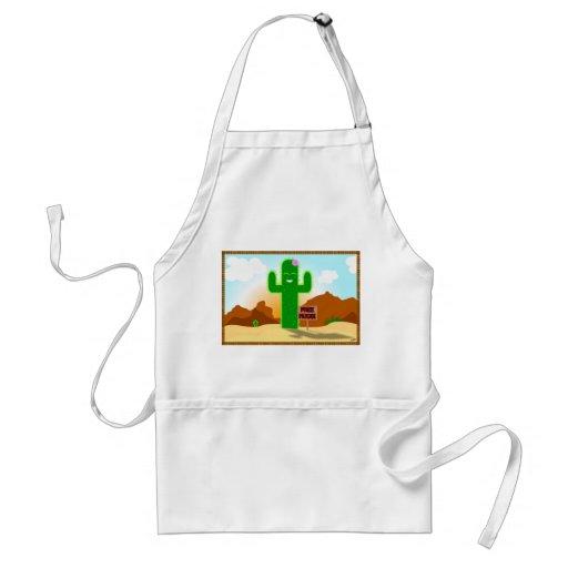 Free Hugs Cactus Apron